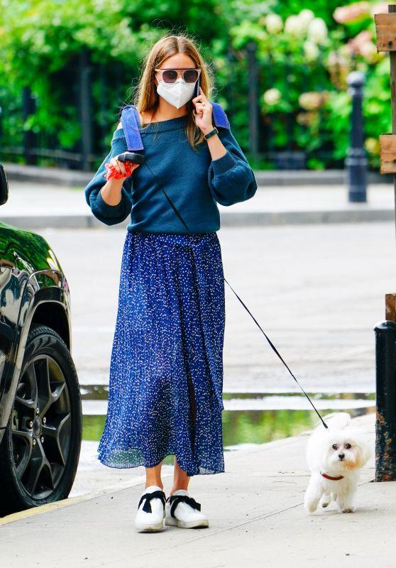 Olivia Palermo - Walks Her Dog in Brooklyn 07/01/2020