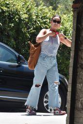 Olivia Wilde - Working Outside in LA 07/11/2020