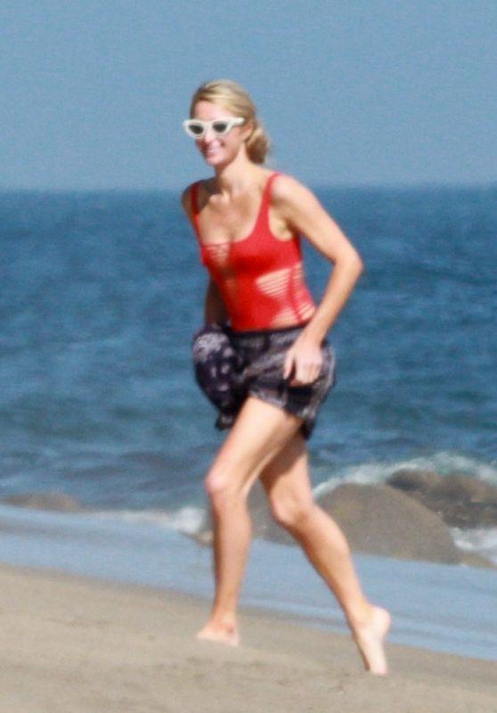 Paris Hilton in a Swimsuit - Beach in Malibu 07/27/2020