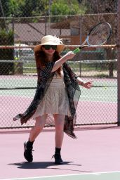 Phoebe Price at the Tennis Court in Los Angeles 07/10/2020