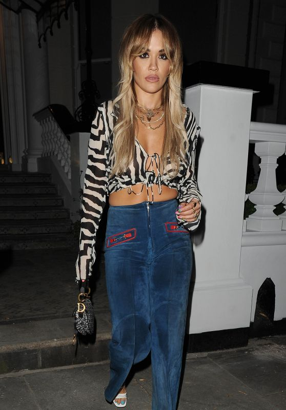 Rita Ora Night Out Style - London 07/24/2020