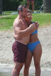 Sam Faiers in a Blue Bikini on Holiday in Spain 07/22/2020