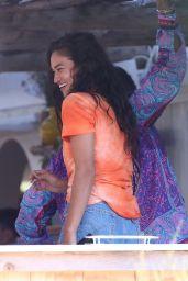 """Shanina Shaik and Eli Mizrahi - """"Loulou"""" in Saint-Tropez 07/26/2020"""