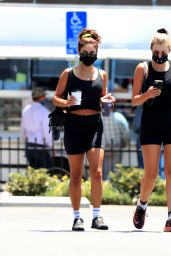 Vanessa Hudgens in Gym Ready Outfit - West Hollywood 07/13/2020