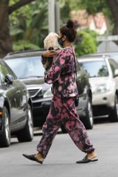 Vanessa Hudgens - Visiting a Friend in Beverly Hills 07/22/2020
