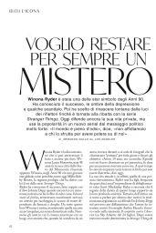 Winona Ryder - Grazia Magazine Italy 07/16/2020 Issue