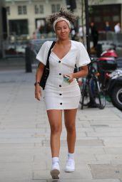 Yasmin Evans in Mini Dress - London 07/13/2020