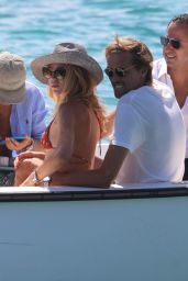 Abbey Clancy and Peter Crouch - Beach in Sardinia 08/20/2020