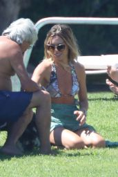 Abbey Clancy in a Frilly Bikini in Sardinia 08/20/2020
