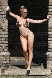 Aisleyne Horgan-Wallace in a Gold Bikini - London 08/13/2020