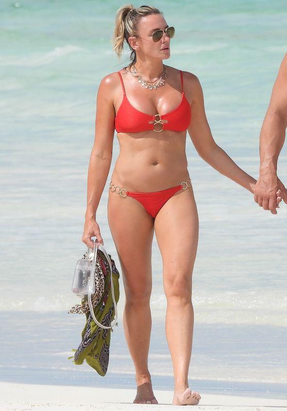 Amber Nichole Miller in a Bikini - Tulum Beach 08/17/2020