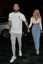 Amber Turner Night Out Style - Roka in Mayfair, London 08/16/2020