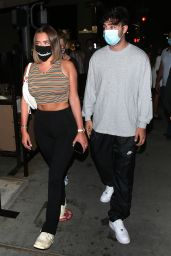 Anastasia Karanikolaou With Zack Bia at IL Pastaio Restaurant in Beverly Hills 08/12/2020