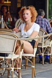 Anna Ermakova - Outside the Posh Aubaine Cafe in Knightsbridge 08/08/2020