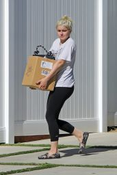 Ariel Winter in Black Leggings and a White T-Shirt 08/11/2020
