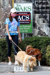Aubrey Plaza - Takes Her Dogs Out For a Walk in LA 08/25/2020