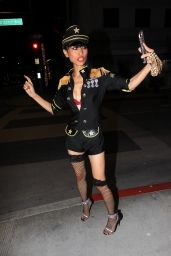 Bai Ling in a Custom Uniform in Beverly Hills 08/05/2020