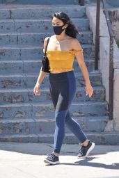 Camila Mendes in Spandex - Los Angeles 08/15/2020