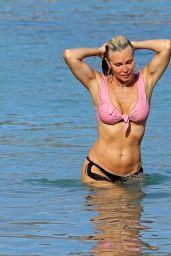 Caprice Bourret at the Beach in Ibiza 08/25/2020