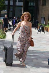 Cassidy Jensen on Set at ITV Studios in London 08/21/2020