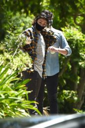 Charli XCX and Huck Kwong - Leave a Friends House in Los Angeles 08/10/2020