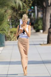 Charlotte McKinney in Summer Street Outfit - Los Angeles 08/21/2020
