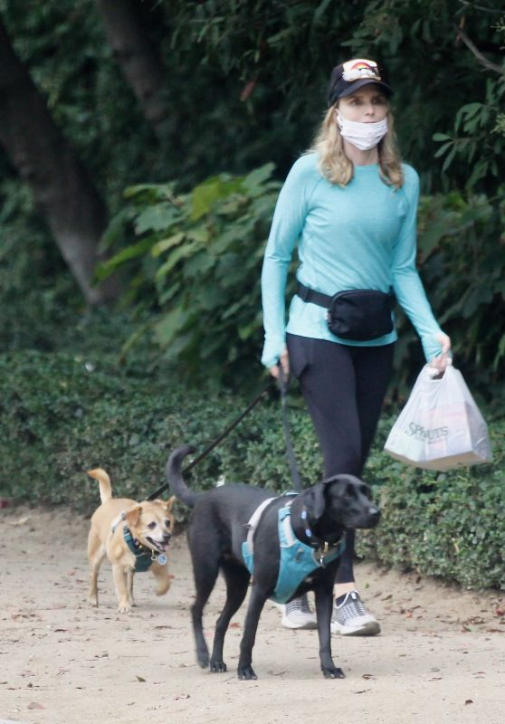 Courtney Thorne-Smith - Takes Her Dogs for a Walk in Brentwood 08/26/2020