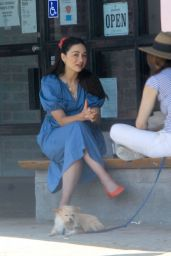 Crystal Reed With a Friend Out in LA 08/25/2020