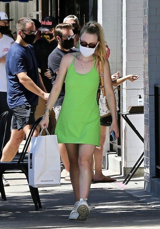 Dakota Fanning in a Short Dress - LA 08/29/2020