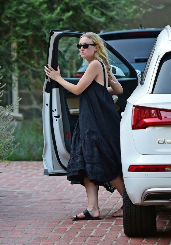 Dakota Fanning - Leaving Her House in LA 08/04/2020