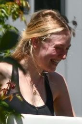 Dakota Fanning - Outside Her House in Studio City 08/12/2020