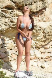 Demi Rose in a Skimpy Teddy Bear Crochet Bikini - Photoshoot in Ibiza 08/21/2020