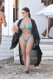 Demi Rose on the Beach in Ibiza 08/20/2020