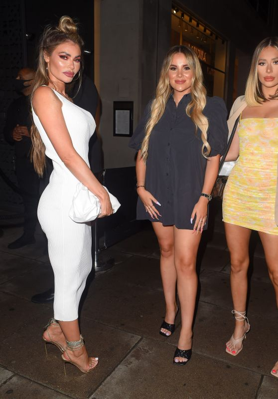 Demi Sims, Georgia Kousoulou and Chloe Sims - Sumosan Twiga in London 08/16/2020
