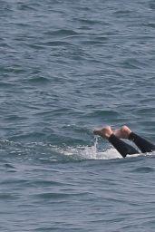 Dua Lipa - Boogie Boarding and Surfing in Malibu 08/20/2020
