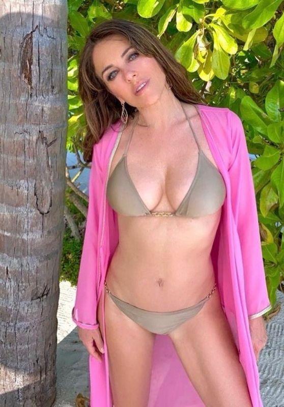 Elizabeth Hurley in a Bikini 08/21/2020