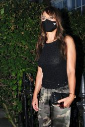 Elizabeth Hurley in Camouflage Trousers - Out in London 08/13/2020