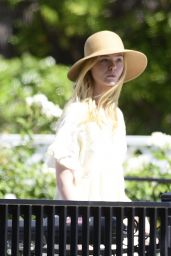 Elle Fanning at a Park in LA 08/02/2020