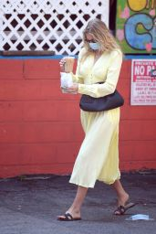 Elsa Hosk - Heading Out For an Iced Coffee in LA 08/28/2020