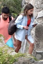 Emilia Clarke in Casual Outfit - Positano 08/09/2020