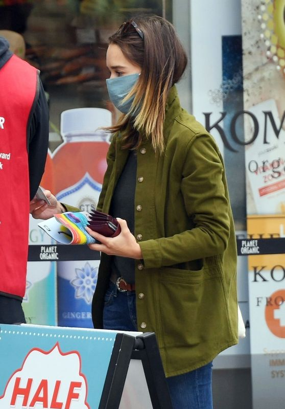 Emilia Clarke - Shopping at Planet Organic in London 08/24/2020