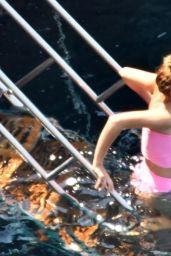 Emma Watson in a Bikini at a Beach in Positano 08/07/2020