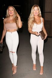 Eve Gale and Jess Gale- Love Island Twins Out in London 08/08/2020