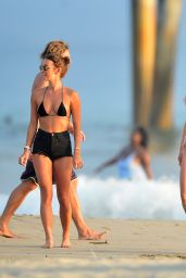 Francesca Farago and  Casey Boonstra at the Beach 08/18/2020