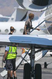 Hailey Bieber and Justin Bieber - Boarding a Private Jet in LA 08/28/2020