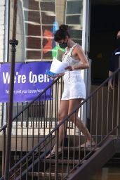 Helena Christensen - Outside a FedEx Store in NYC 06/26/2020