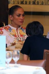 Jennifer Lopez at Cipriani Downtown in New York 08/05/2020