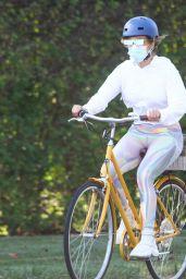 Jennifer Lopez - Out on a Bike Ride Around the Hamptons 08/01/2020