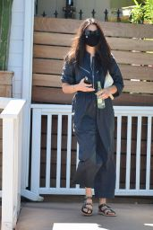 Jessica Gomes in a Trendy Jumpsuit - West Hollywood 08/21/2020