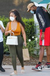 Jordyn Woods at Toscanova in Calabasas 08/11/2020